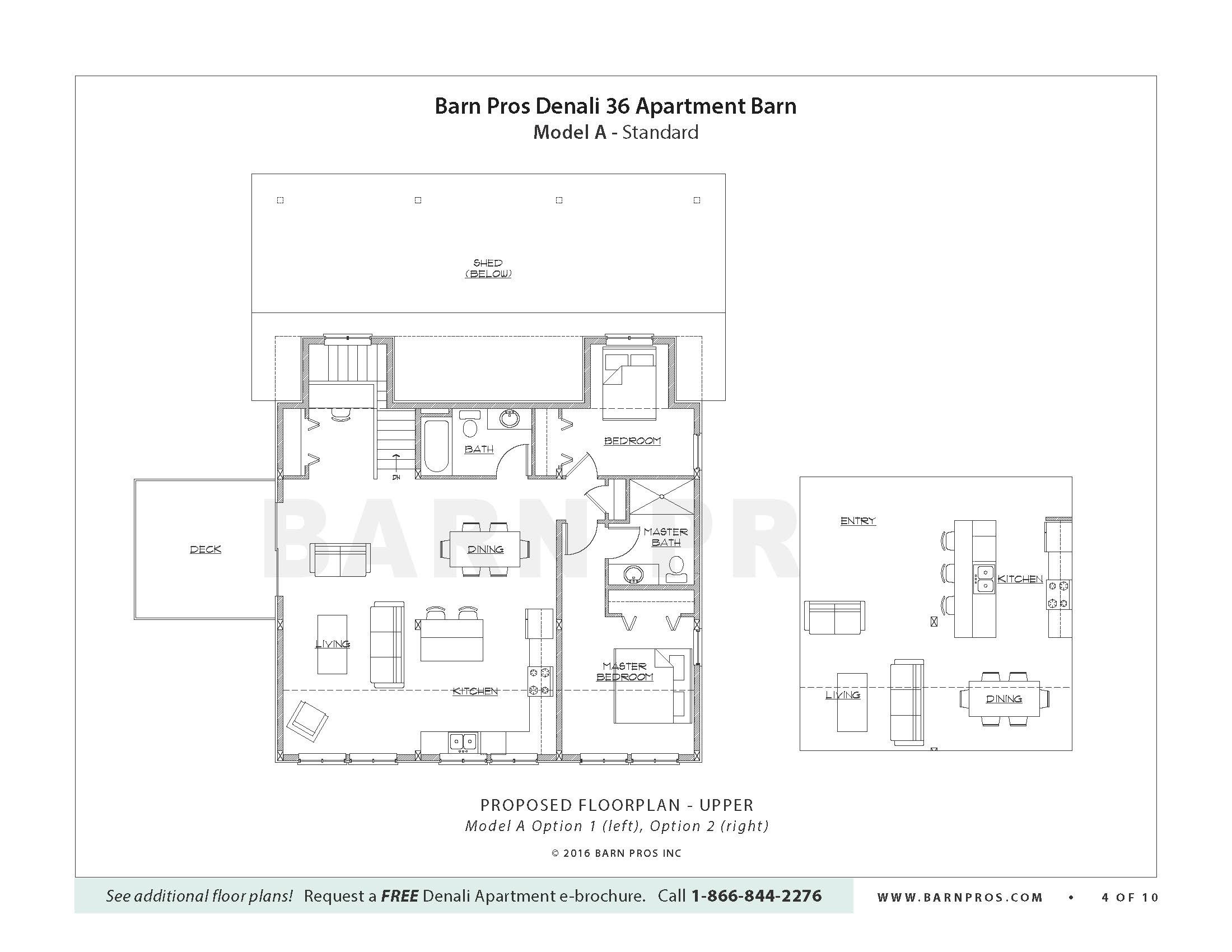 Denali Barn Apartment Barn Pros